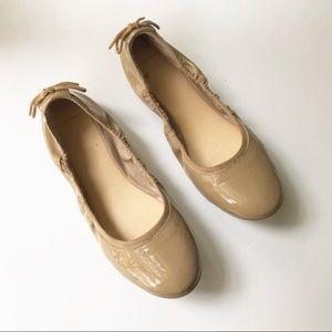 Coke Han Tan Ashlyn Patent Leather Ballet Flats